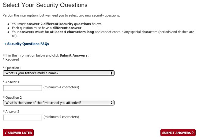 Security item number three.
